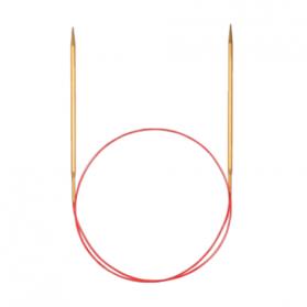 Спицы Addi Lace, круговые, с удлиненным кончиком, позолоченные, 60 см