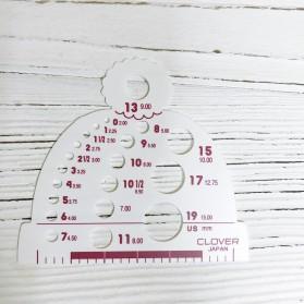 Шаблон для измерения диаметра спиц