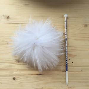 Помпон меховой белый Енот